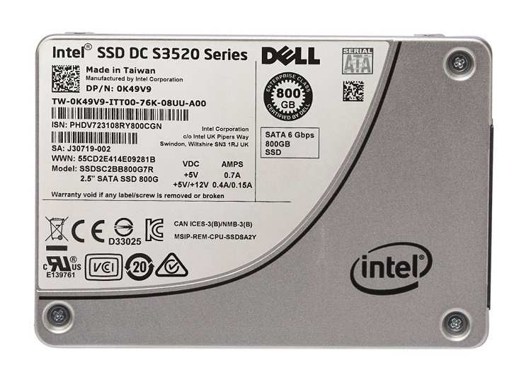 SSD накопитель Intel DC S3520 Series SSDSC2BB800G701
