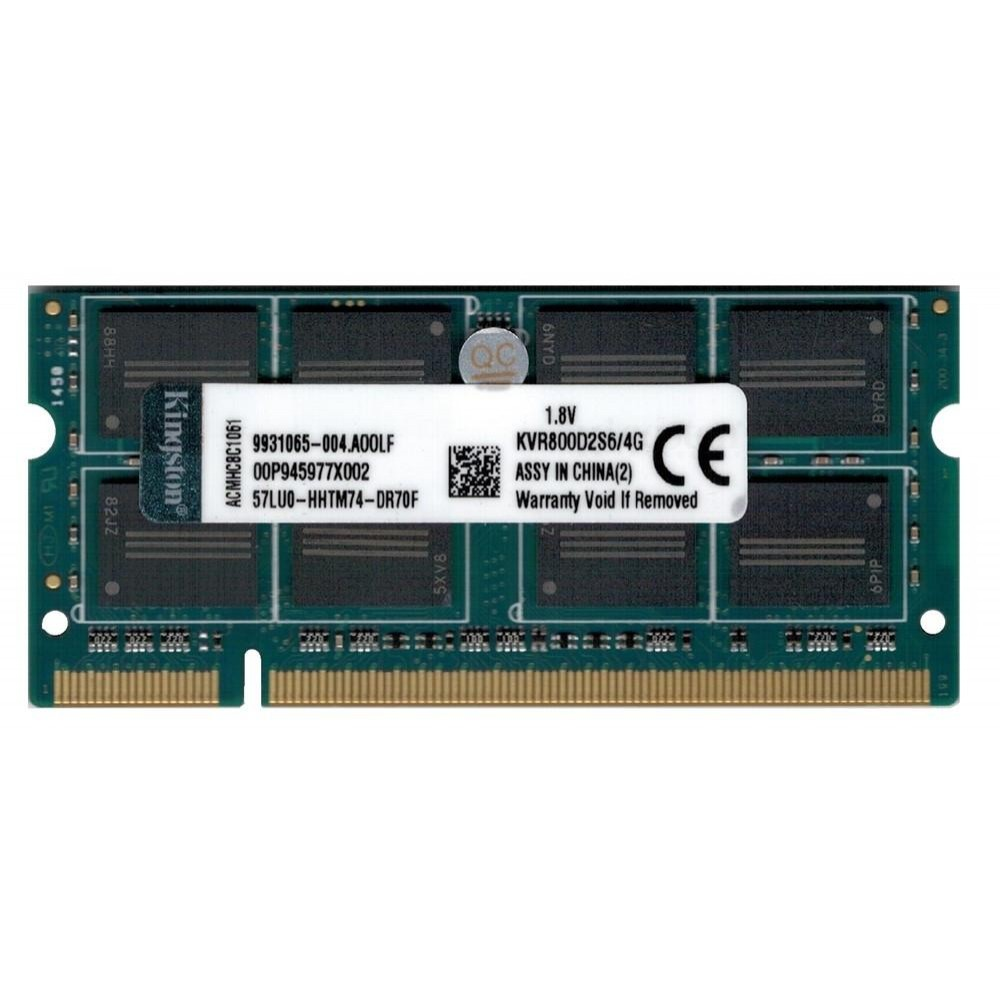 Оперативная память SODIMM Kingston DDR2-800 PC2-6400 4Gb (KVR800D2S6/4G)